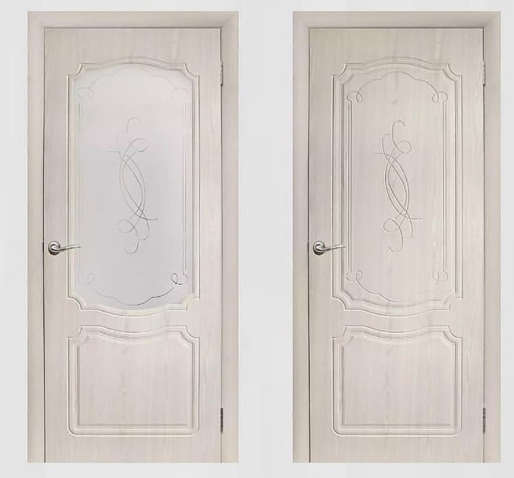 Дверь Мегас беленый дуб