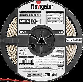 Лента СД NLS-3528W120-9.6-IP20-12V R5 71 408 Navigator