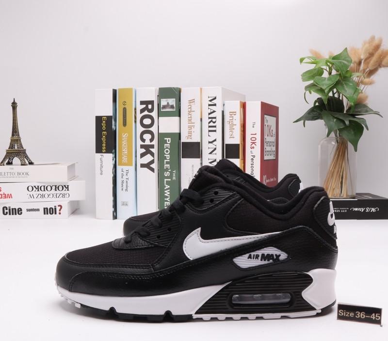 "Кроссовки Nike Air Max 90 ""BLack\White"" (36-45) - фото 1"