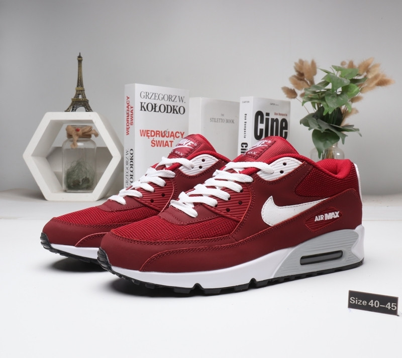 """Кроссовки Nike Air Max 90 """"Red\White"""" (40-45) - фото 1"""