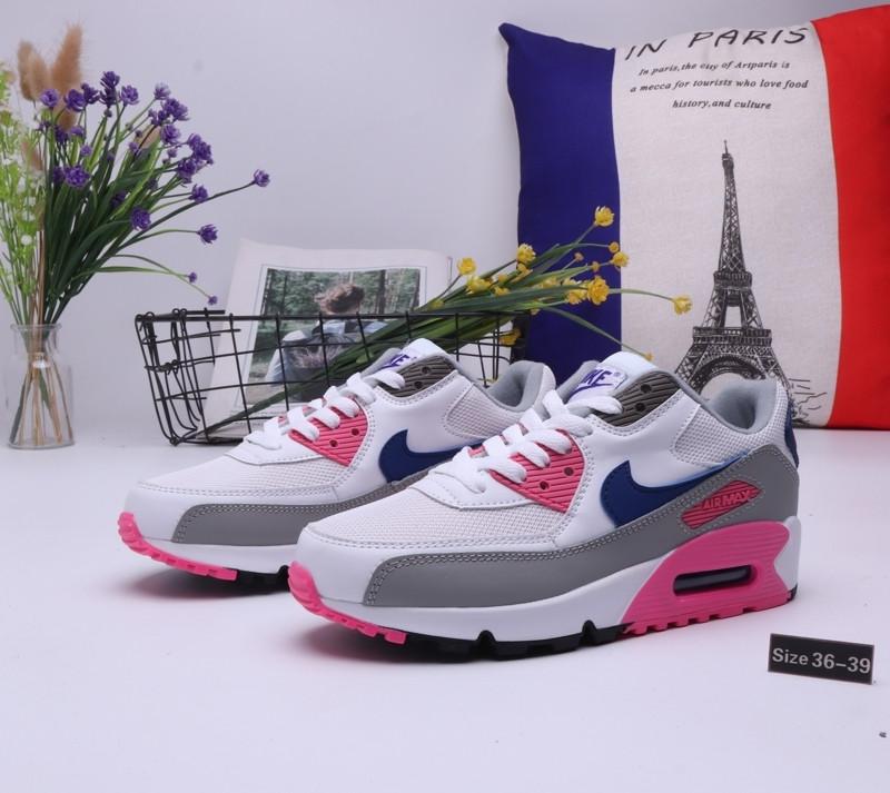 "Женские кроссовки Nike Air Max 90 ""White\Pink"" (36-39) - фото 1"