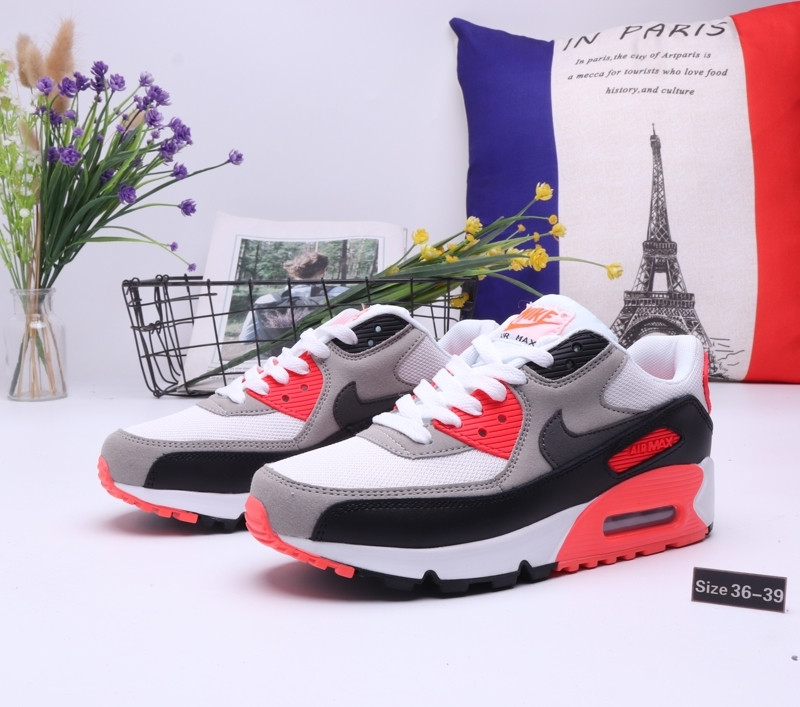 "Кроссовки Nike Air Max 90 ""Gray\Black"" (36-39) - фото 1"