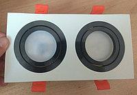 Точечный светильник 2ной квадратный с поворотным механизмом, фото 1