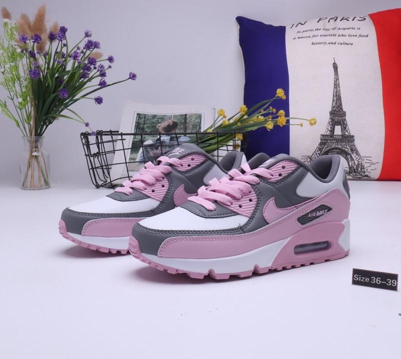 "Женские кроссовки Nike Air Max 90 ""Gray\Pink"" (36-39)"