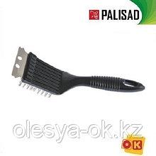 Щетка для чистки гриля 20 см, 2 в 1 (щетка, скребок) PALISAD. 69650