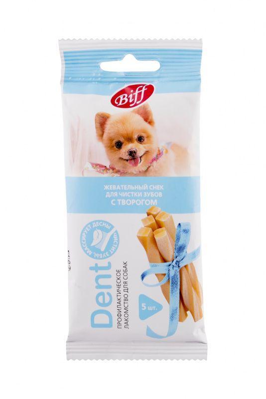 Жевательный снек TitBit DENT с творогом для собак мини пород - 30 г