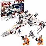 Конструктор Аналог Lego 75218, Lepin 05145 King 81090 Звёздный истребитель X-wing белая упаковка, фото 3