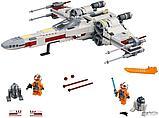 Конструктор Аналог Lego 75218, Lepin 05145 King 81090 Звёздный истребитель X-wing белая упаковка, фото 5