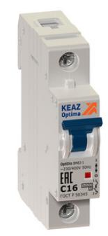 Выключатель автоматический модульный OptiDin BM63-1B1-УХЛ3 (Новый) КЭАЗ