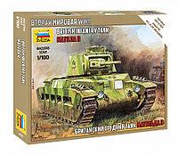 Британский средний танк Матильда II, сборная модель, 1/100, фото 1