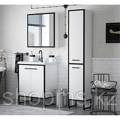 "Зеркало Corozo ""Айрон 60"" черный/белый"