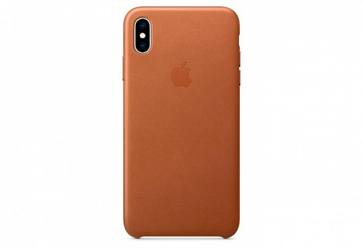 Оригинальный чехол Apple для IPhone XS Max Leather Case - Saddle Brown