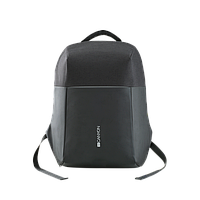 """Anti-theft backpack for 15.6""""-17"""" laptop, material 900D glued polyester and 600D polyester, black, U"""