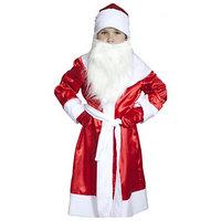 Карнавальный костюм 'Дед Мороз', детский, атлас, рост 140-152 см