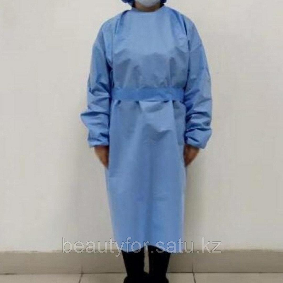 Халат хирургический нестерильный, одноразовый 1 шт/уп. - фото 2