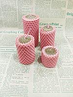 Свечи из вощины Розовые красивый подарочный набор для женщин, натуральный подарок из пчелиного воска.