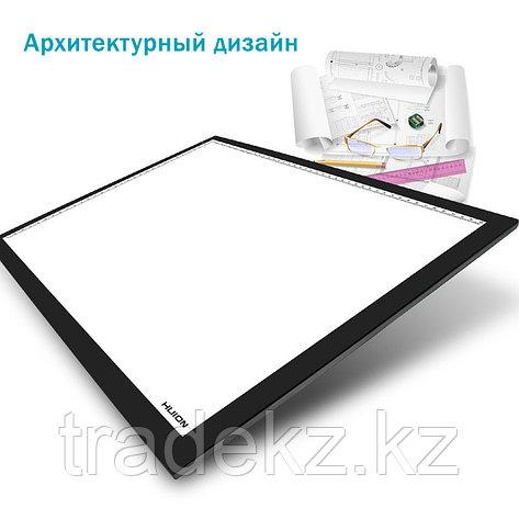 LED планшет (светокопировальный) Huion A3 + перчатка, фото 2