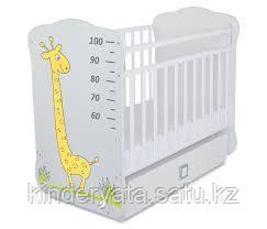 Кровать детская с маятником и ящиком Жираф СКВ