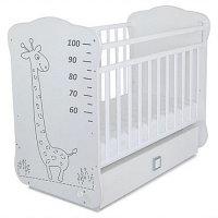 Кровать детская с маятником и ящиком Жираф серый СКВ