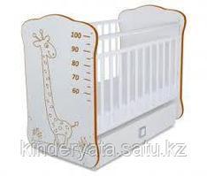 Кровать детская с маятником и ящиком Жираф коричневый СКВ