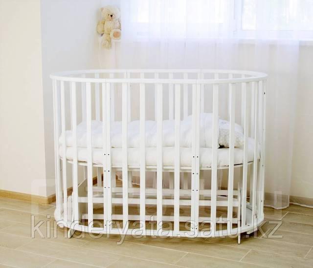 Детская кроватка-трансформер СКВ,круглая 12 в 1