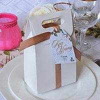 "Коробка ""Nuga"", бонбоньерка 15 х 10 х 6 см, БЕЛЫЙ"
