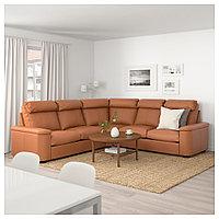 ЛИДГУЛЬТ 5-местный угловой диван, Гранн/Бумстад золотисто-коричневый, Гранн/Бумстад золотисто-коричневый, фото 1