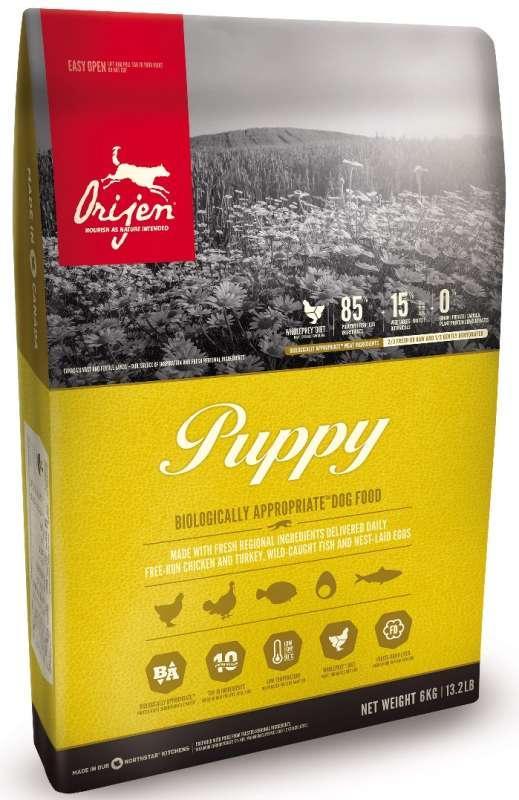 Беззерновой корм Orijen Puppy для щенков мелких и средних пород - 11.4 кг