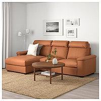 ЛИДГУЛЬТ 3-местный диван, с козеткой, Гранн/Бумстад золотисто-коричневый, с козеткой/Гранн/Бумстад золотисто-к