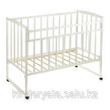 Детская кроватка ВДК Magico (колесо-качалка)(Белый)