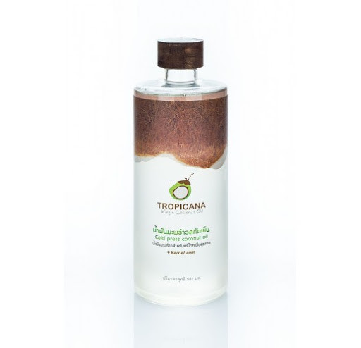 Кокосовое масло органическое холодного отжима премиум Тропикана 500 мл (Wood cap)