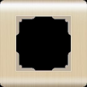 Рамка на 1 пост /WL12-Frame-01 (шампань)