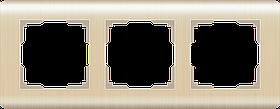 Рамка на 3 поста /WL12-Frame-03 (шампань)