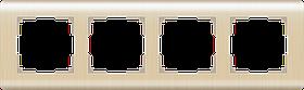 Рамка на 4 поста /WL12-Frame-04 (шампань)