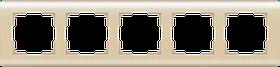 Рамка на 5 постов /WL12-Frame-05 (шампань)