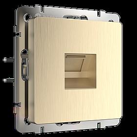 Розетка Ethernet RJ-45 /WL10-RJ-45 (шампань рифленый)