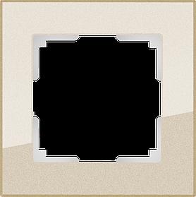 Рамка на 1 пост /WL01-Frame-01 (шампань)