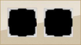 Рамка на 2 поста /WL01-Frame-02 (шампань)