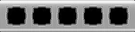 Рамка на 5 постов /WL12-Frame-05 (серебряный)
