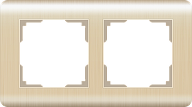 Рамка на 2 поста /WL12-Frame-02 (шампань)