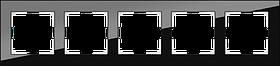 Рамка на 5 постов /WL01-Frame-05 (черный)