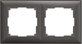 Рамка на 2 поста /WL14-Frame-02 (серо-коричневый)
