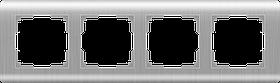 Рамка на 4 поста /WL12-Frame-04 (серебряный)