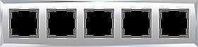 Рамка на 5 постов /WL08-Frame-05 (зеркальный)