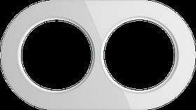 Рамка на 2 поста /WL21-Frame-02 (белый)
