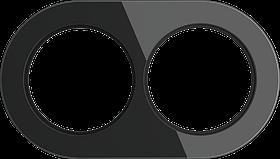 Рамка на 2 поста /WL21-Frame-02 (черный)