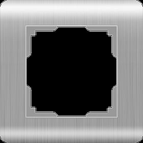 Рамка на 1 пост /WL12-Frame-01 (серебряный)
