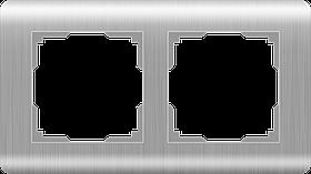 Рамка на 2 поста /WL12-Frame-02 (серебряный)