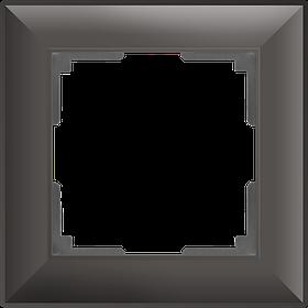 Рамка на 1 пост /WL14-Frame-01 (серо-коричневый)