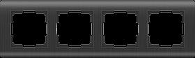 Рамка на 4 поста /WL12-Frame-04 (графит)